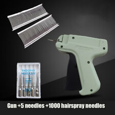 Garment Price Tag Label Gun Tagging Tagger With 1000 Barbs 5 Extra Needle Tool