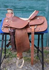 Dale Fredericks Wade Tree Ranch/Roping Saddle – 15.5 Seat Rough out