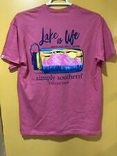 Youth Simply Southern T-shirt Size Medium Short Sleeves Color Begonia LAKE IS L
