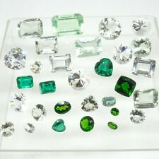 112.0 CTW Mixed Parcel! - Huge Variety of Green, Yellow & White Loose Gemstones