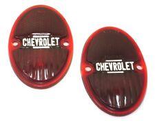 1933-1936 Chevy Tail Light Lenses w/ Chevrolet Script