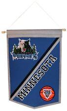 Minnesota Timberwolves Nba Embroidered Wool Traditions 12x18 Mini Banner Flag