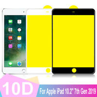 10D Full Coverage Tempered Glass Screen Protector For iPad 10.2'' 7th Gen 2019