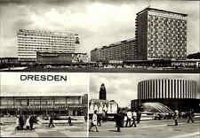 DRESDEN Sachsen DDR Mehrbild-AK 1973 ua. Interhotel Filmtheater Kino Prager Str.
