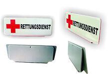 Einsatzschild -  Rettungsdienst Schild für Sonnenblende  Rotes Kreuz - NEU