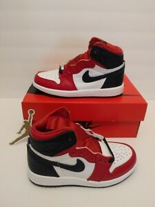 Nike Air Jordan 1 High Retro Red Satin Snake Skin CU0449-601 PS Size 2Y