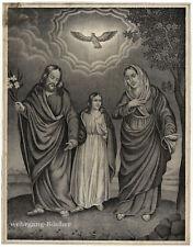 Große Lithographie,  Die Heilige Familie, um 1850