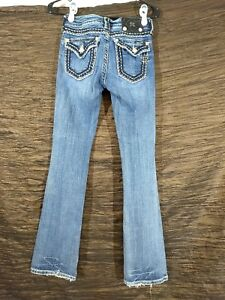 Miss Me Women's Jeans 26 x 33 Boot embellishment top stitching