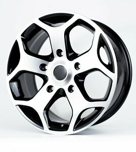 "BK954 Black 18"" Alloy Wheels Tyres 5x160 8x18 255 45 18 Transit Custom mk7"
