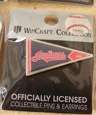Cleveland Indians logo pennant shape lapel pin MLB