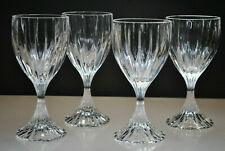 MIKASA PARK LANE BLOWN WINE / WATER GLASSES (SET OF 4) DISCONTINUED PATTERN