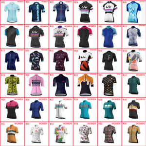 2021 Summer Womens Cycling Jersey Short Sleeve Shirt Bicycle Tops Sports Uniform
