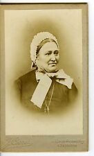 FRANCE ST ETIENNE Crozet une femme pose bonnet dentelle CDV photo