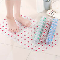 HN- Shower Bath Tub Clear Bubble Mat Safety Anti-slip PVC Floor Rug Carpet Vivid