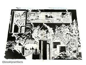 Original Splash Page Marvel Comics Book Art Punisher War Journal Issue 33