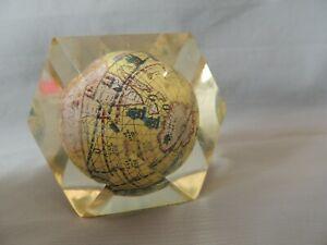 Collectible world small globe inside plexiglass