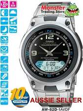 AUSSIE SELLER CASIO FISHING TIME AW-82D-1AV AW82D MOON AGE 12 MONTH WARRANTY