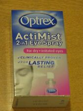 OPTREX ACTIMIST 2 IN 1 DRY + IRRITATED EYE SPRAY NEW/BOXED 10ml Expires 2020