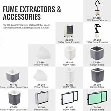 80with130with330w Fume Extractors For Co2 Fiber Laser Engravers Ampc With Filter Sets