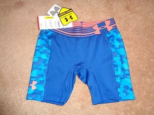 YSM UNDER ARMOUR HEATGEAR COMPRESSION ATHLETIC SHORTS / LOLLIES. NWT $24.99