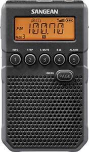 Sangean Dt-800bk Am/fm Weather Alert Pocket Radio [black] (dt800bk)