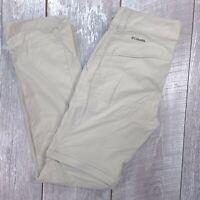 Columbia Saturday Trail II Convertible Pants Womens 6 30x32 Beige Straight J320