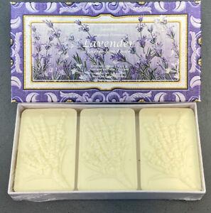 Saponificio Artigianale Fiorentino Lavender Scented Soap 3 x 4.40 oz. New In Box