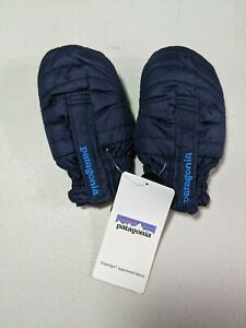 NWT Patagonia Baby Puff Mitts Mittens 3-6 Months Navy Blue 60551 $39