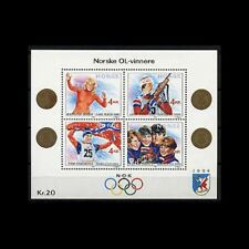 Norway, Sc #946, MNH, 1989, S/S, Olympics, Gold Medal Winners, AR5FDDD3