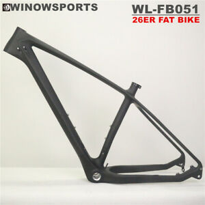 "Carbon 26er Fat bike Frame max tire 26*5.0"" mtb Frame BSA100 snow bike frame"
