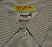 Vintage WESTERN Wrangler Style RED CAP Employee UNIFORM STRIPE Shirt size XL