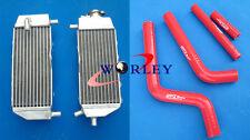 Aluminum Radiator and hose FOR Yamaha YZ125 2005-2014 2006 2007 2008 2009 2010