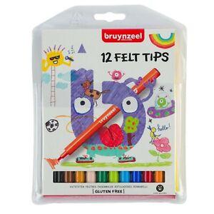 Felt Tips Colouring Pens Bruynzeel Kids Felt Tips - Pack of 12