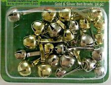 Jingle Bell Brads Silver & Gold Christmas Decorations
