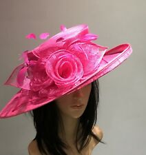 NIGEL RAYMENT HOT PINK WEDDING ASCOT HAT  MOTHER OF THE BRIDE