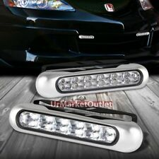"6"" 12-White LED Bulb Front Bumper Clear Day Time Running/Fog Light Lamp+Mount"