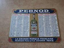 Carte Publicitaire chromo calendrier 1927 PERNOD APERITIF ANISE AVIGNON-PARIS