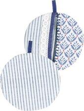 1 Topflappen blau weiss spitze maritim Shabby, Blanc Mariclo Toskana
