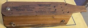 Vintage Lynch's World Champion Box Turkey Call 12 Hole Birmingham, Alabama