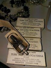 Four National Union Nos 7C4 / 1203A Radio Tubes Vt-243 Guaranteed
