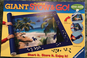 RAVENSBURGER GIANT Puzzle Stow and Go Storage Roll Up  Mat for 1000-3000 NIB