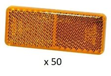Narva 84036 Retro Amber Reflector 70 x 28mm Self Adhesive 50 Pack