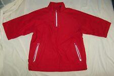 ANTIGUA Men's Sz Small Red Pullover Golf Athletic Top Vents Cinch Waist runs Big