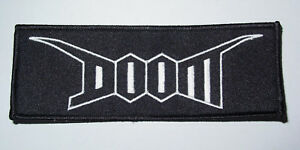 Doom - Logo embroidered patch (crust punk d-beat)