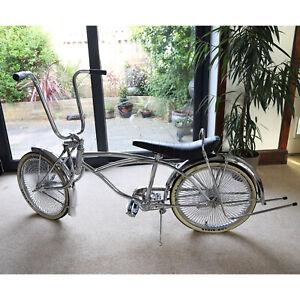 Chrome Lowrider Beach Cruiser Chopper Bicycle Schwinn Style American Muscle Bike