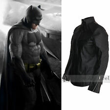 Batman Vs Superman Costume Ben Affleck Mens Batman Black Leather Jacket