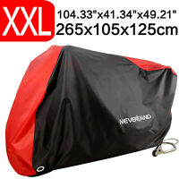 XXL Large Waterproof Motorcycle Cover Outdoor Bike Cover Rain UV Dust Protector