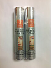 2 X Trial Size Sally Hansen Airbrush Makeup Foundation NATURAL BEIGE SPICE NEW.