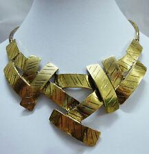 Necklace Metalwork Art Deco Pendant Fashion Antique Gold Cross Bib Statement