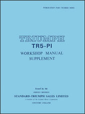 FACTORY WORKSHOP SERVICE REPAIR SUPPLEMENT MANUAL BOOK LEYLAND TRIUMPH TR5-PI